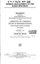 Download Federal management of the radio spectrum