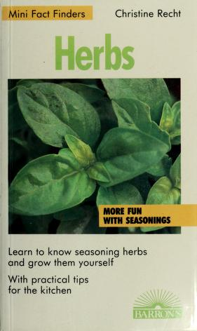 Cover of: Herbs   Christine Recht